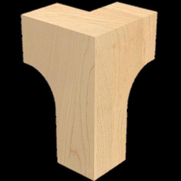 "6"" Craftsman Corner Bun Foot"