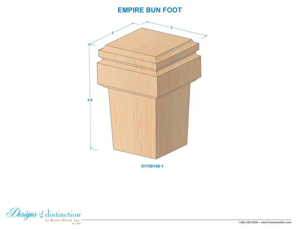 """4-1/2"""" Empire Bun Foot"""