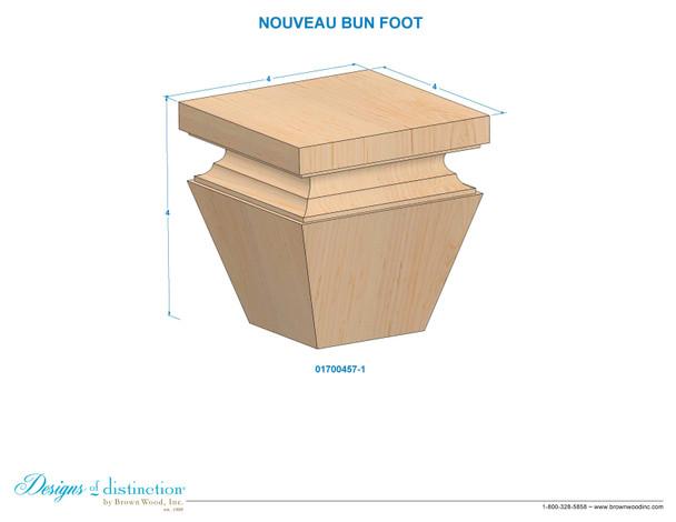 """4"""" Nouveau Square Bun Foot"""