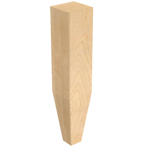 """2"""" x 10"""" Square Legs with Tapered Foot"""