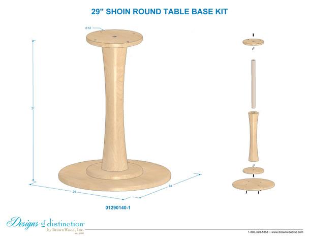 "29"" Shoin Round Table Base"