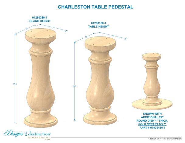 Charleston Table Pedestal Base