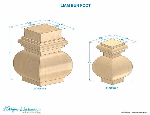 "6"" Liam Bun Foot"