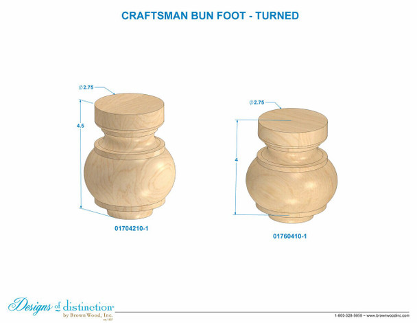 Craftsman Bun Foot