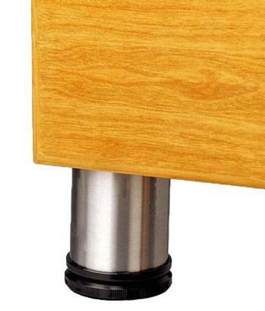 "Stainless Steel Furniture Leg 2-3/8"" Dia."