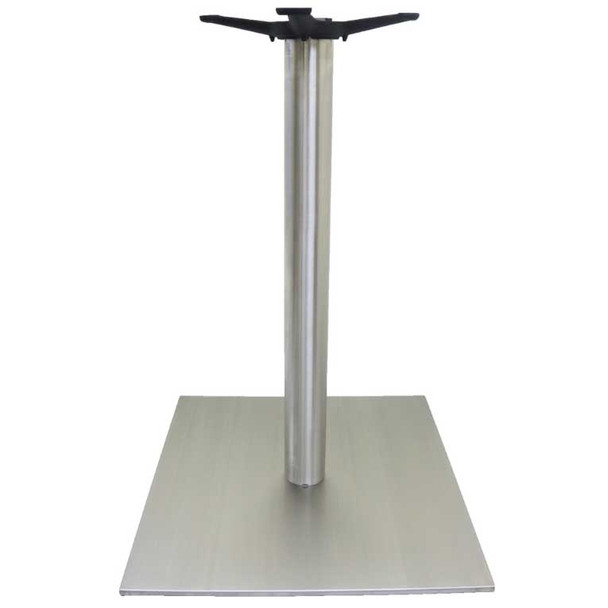 Stainless Steel Square Table Base with Round Column