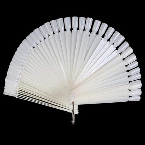 (White) Nail Swatches Sticks - 40 Packs