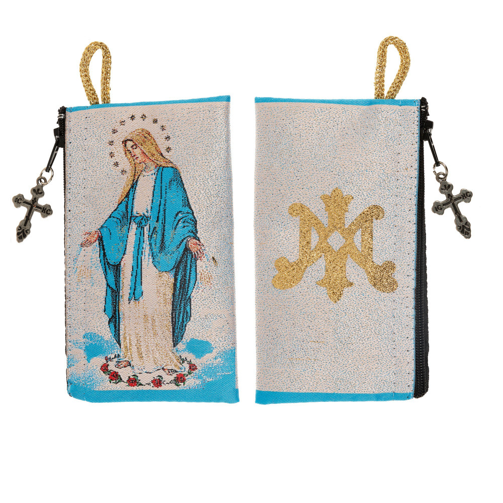 Our Lady of Grace Rosary Pouch