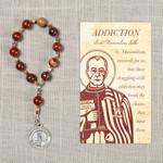 St. Maximilian Kolbe Addiction Decade Rosary & Card