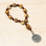 St. Padre Pio Healing Decade Rosary with Prayer Card