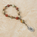 St. Anne Infertility Decade Rosary with Prayer Card