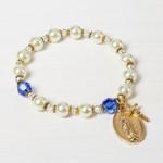 Miraculous Medal Rosary Bracelet