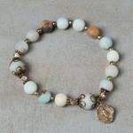 Amazonite Rosary Bracelet