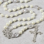 Pearl and Crystal Wedding Rosary