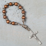 Copper St. Benedict Paracord Decade Rosary