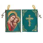 Mother of God Rosary Tapestry Pouch