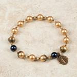 Golden Pearl Rosary Bracelet