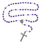 Sterling Silver Genuine Amethyst Rosary