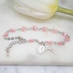 Swarovski Rose Butterfly Rosary Bracelet