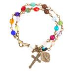 Chapel Window Rosary Bracelet