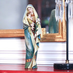Madonna & Child w/ Lily Carved Statue