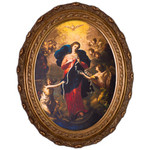 Mary Untier of Knots Canvas in Oval Frame - 12x16