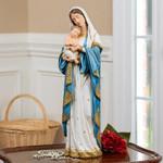"Gilded Madonna & Child Statue - 24"""