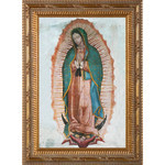 Our Lady of Guadalupe on Canvas w/ Ornate Gold Frame