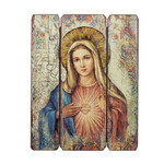 Immaculate Heart of Mary Wall Plaque