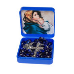 Madonna of the Streets Dark Blue Rosary with Box thumbnail 3