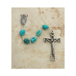 Sterling Silver Genuine Turquoise Nugget Rosary