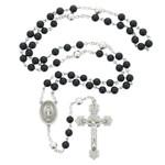 Holy Name Genuine Onyx & Sterling Rosary