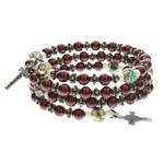 Swarovski Maroon Rosary Bracelet