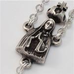Fatima Apparition Silver Plated Decade Auto Rosary
