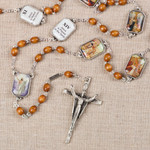 Stations of the Cross Silver Plated Rosary