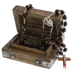 Personalized Budded Cross Rosary Box