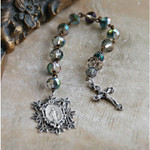 Green Tinted Crystal Rosary Tenner
