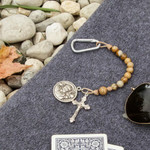 St. Christopher Brown Brave Beads Tenner Rosary