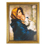 Madonna of the Streets Gold Framed Print