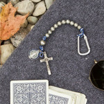 St. Benedict Blue Paracord Brave Beads Tenner Rosary