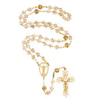 Gold Risen Christ Easter Lily Rosary