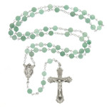 Abundant Graces Green & Sterling Rosary