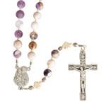 St Joseph Matte Amethyst Rosary