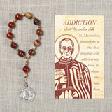 St. Maximilian Kolbe Addiction Decade Rosary & Card