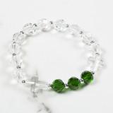 May Birthstone Rosary Bracelet