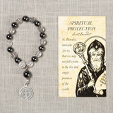 St. Benedict Spiritual Protection Decade Rosary with Card