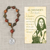 St. Dymphna Alzheimers/Dementia Decade Rosary with Card