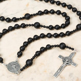 St. Benedict Matte Onyx Rosary