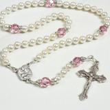 Holy Family Baptism Rosary - Girl