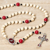 Confirmation Wood Rosary with Prayer Card